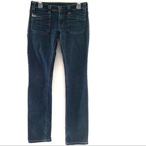 Diesel Jeans Straight Leg Dark Wash Size 29